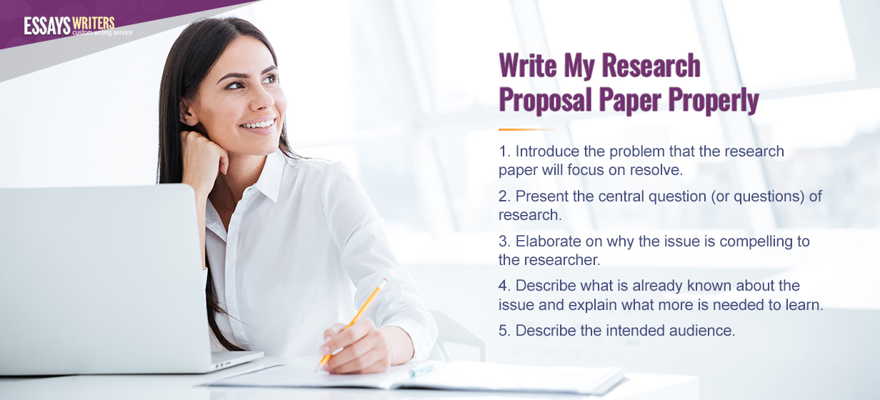 Write My Research Proposal Paper Properly