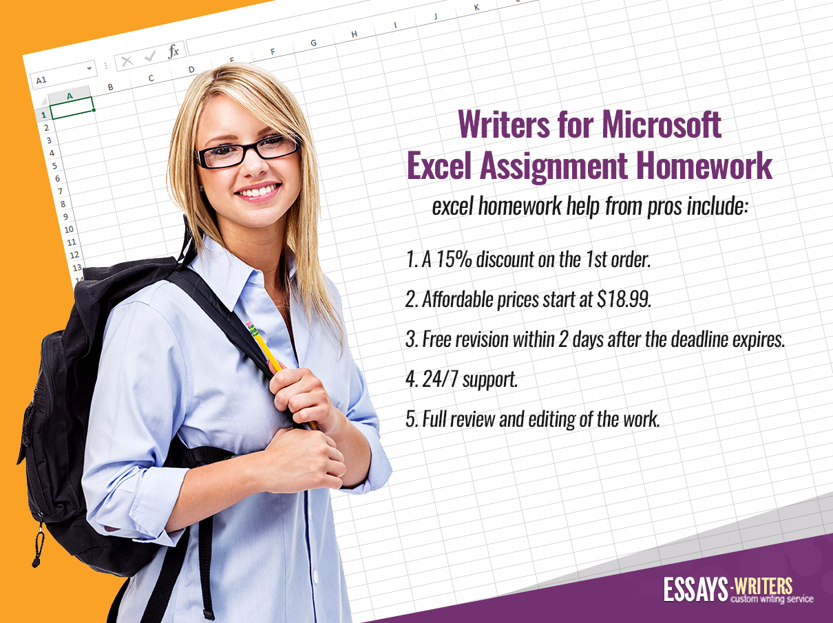 Professional Writers for Microsoft Excel Assignment Homework Writing